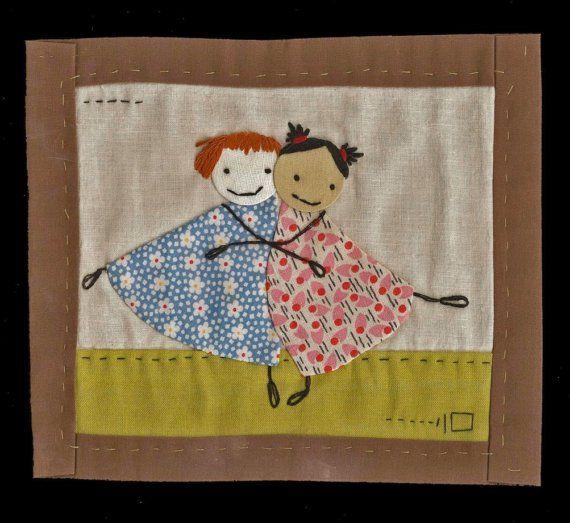 Girlfriends ,,,,,Little Mini Quilt
