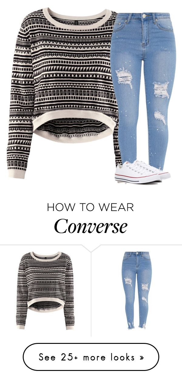 """Untitled #3228"" by laurenatria11 on Polyvore featuring H&M and Converse"