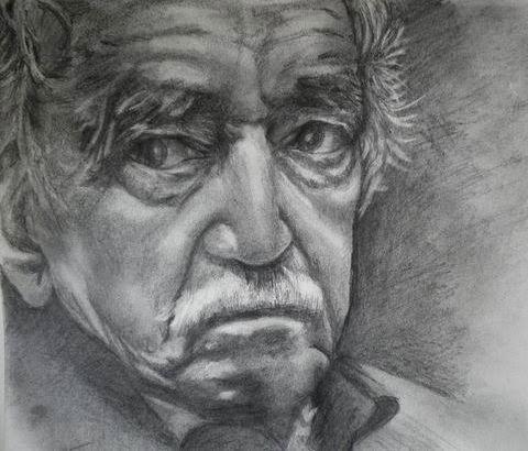 """Una idea, mucho arte  """"El mundo era tan reciente, que muchas cosas carecían de nombre, y para mencionarlas había que señalarlas con el dedo"""". Gabriel García Márquez Grafito en bloc de dibujo Guarro, 21 x 29 cm   Autora Pilar Vicario"""