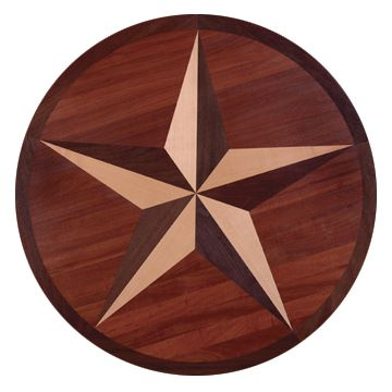 Hardwood floor with Texas Star pattern