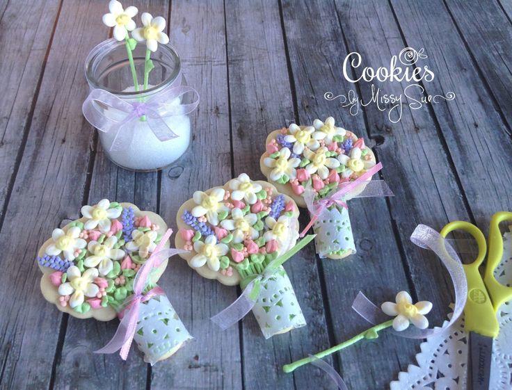 125 best Flowers bouquets cookies pops images on Pinterest | Cookies ...