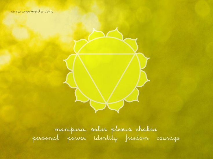 Manipura, solar plexus chakra greeting card