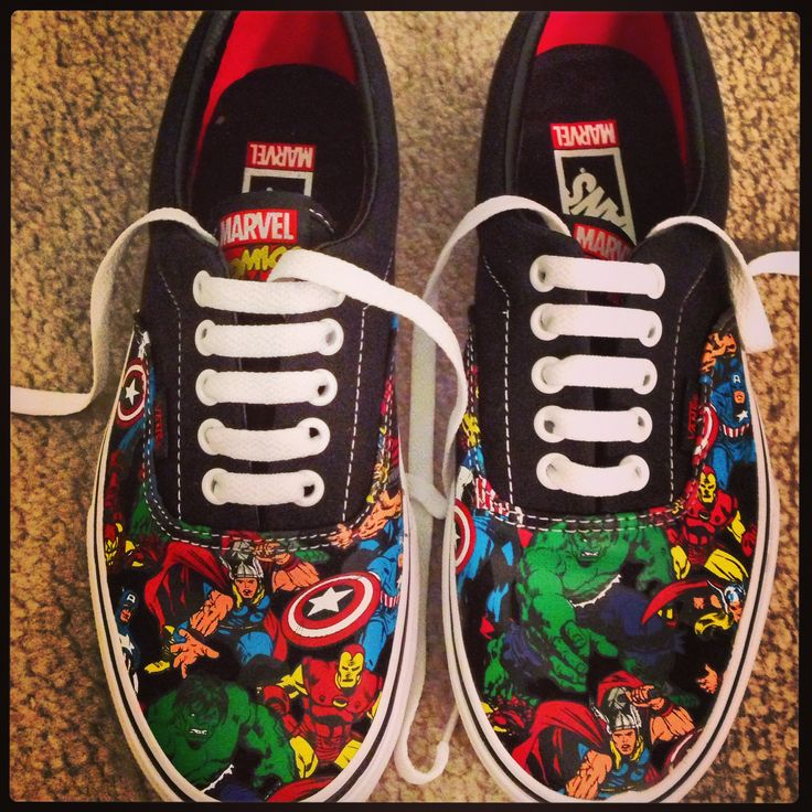 Avengers shoes by Vans. For the Marvel freak in all of us ;)