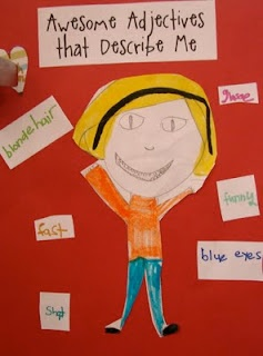 adjective idea for first grade... doing this next week!!