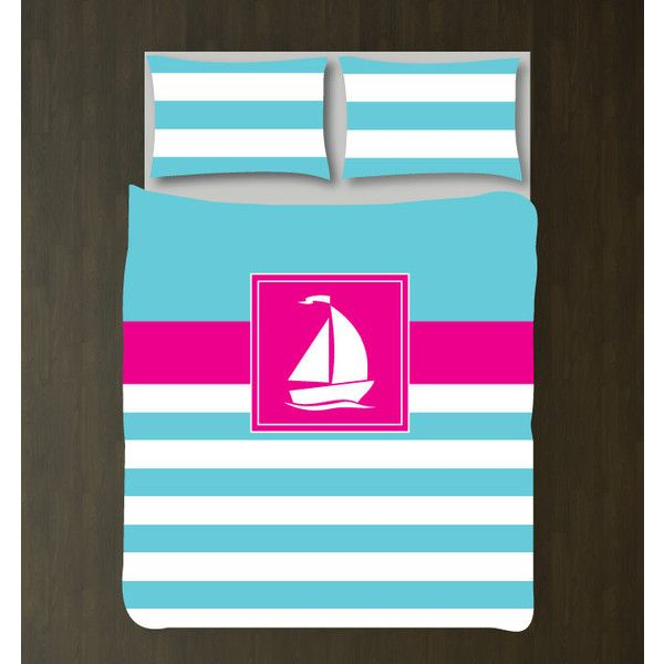 Nautical Duvet Cover w/shams-sailboat-custom Bedding Set-Coral Navy... ($117) ❤ liked on Polyvore featuring home, bed & bath, bedding, duvet covers, home & living, silver, king size bedding sets, queen duvet cover sets, xl twin bed sets and king duvet