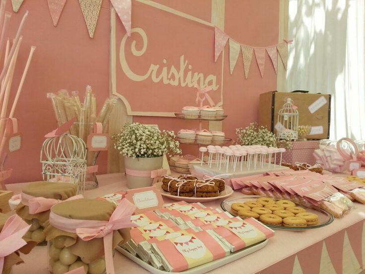 Estilo Vintage Decoracion De Fiestas ~ Dise?o y decoraci?n de eventos # sevilla # comuni?n# rosa vintage