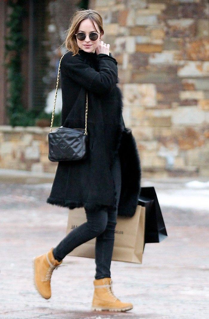 How Dakota Johnson Does Effortless High-Low Style via @WhoWhatWear
