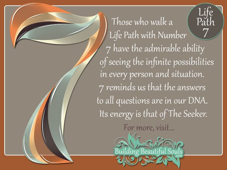 NUMEROLOGY 7 - Learn the NUMEROLOGY MEANINGS & spiritual significance of NUMBER 7. In-depth descriptions for LIFE PATH, COMPATIBILITY, DESTINY, & CAREER!