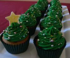 Thermomix Christmas Recipes | Christmas Tree Cupcakes