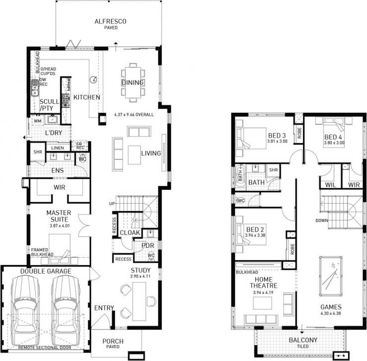 superior cheap two story house plans #10: Amherst, Double Storey Display Floor Plan, ...