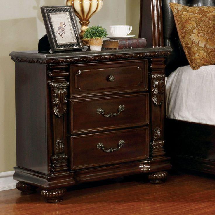 Furniture of America Tayler Traditional Dark Cherry Nightstand