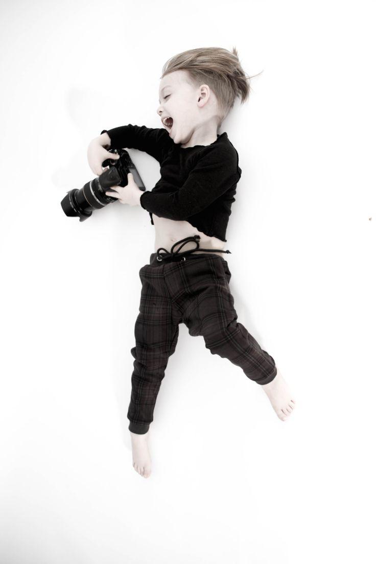 Just Bo organic hemp shirt black & Talc tartan pants www.born2bseen.com