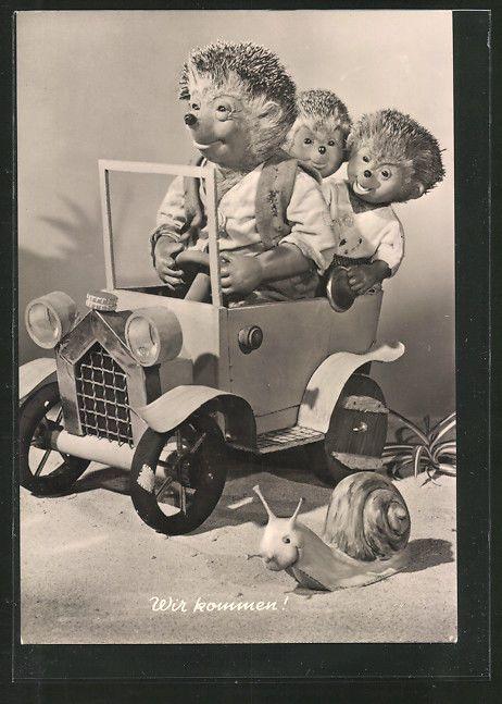 tolle AK Mecki fährt mit Kindern Auto, Schnecke überholt ihn in Sammeln & Seltenes, Ansichtskarten, Motive | eBay
