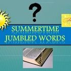End of Year - Summer Jumbled Words PowerPoint Game.  Fun end of the year interactive word scramble game with summer words. Words will appear in scr...
