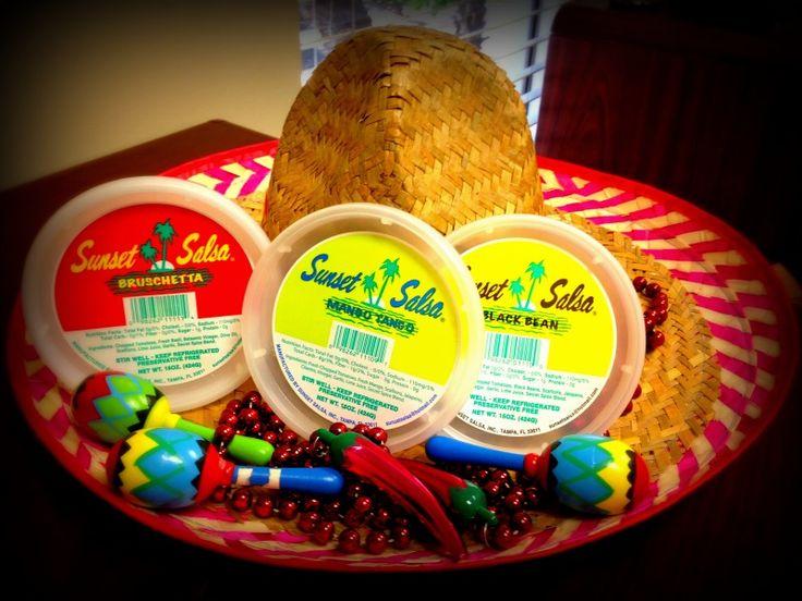 Sunset Salsa labels for Cinco de Mayo.