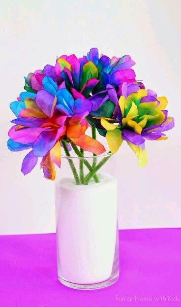 Florero multicolor