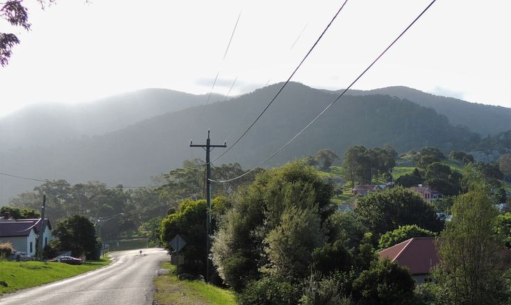 Road to Central Tilba with Mt Gulaga