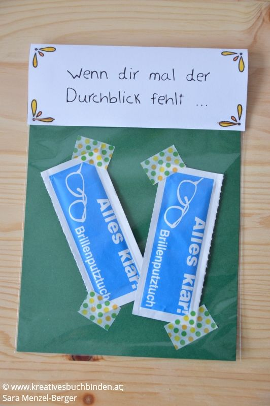 Wenn dir mal der Durchblick fehlt ... Geschenk: Brillenputztücher Die Wenn-Box ist ein tolles Geburtstagsgeschenk, du kannst sie aber auch basteln für eine Hochzeit, als Mitbringsel oder für Weihnachten. #kreativesschaffen #wennbox