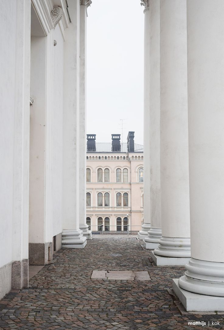 Helsinki Cathedral Colonnade, Finland | Photo by Matthijs Kok #Helsinki #Finland #cathedral