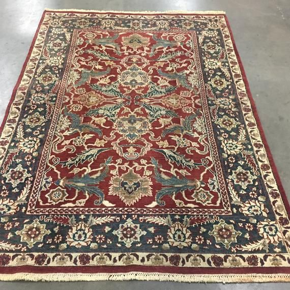6x9 Indian Agra Area Rug Hand Knotted Vegetable Dye Wool Carpet 5 10 X 9 1 Area Rugs Rugs Wool Carpet