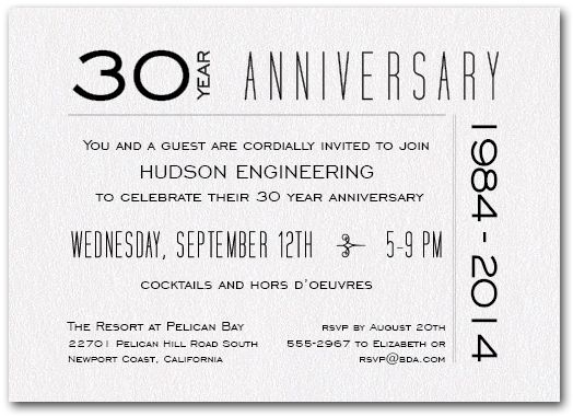 Anniversary Shimmery White 7 Business Invitations Pinterest