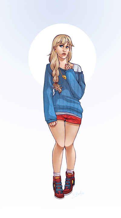 Supergirl | DC Comics Superheroines Dressed As Modern Hipsters
