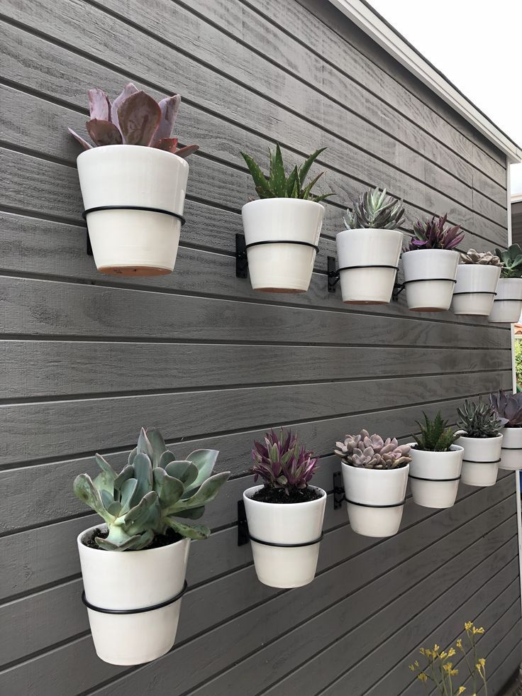Pin By Elizabeth Gordon Studio On Vertical Garden Inspiration Hanging Plants Outdoor Plant Pot Holders Wall Planters Outdoor