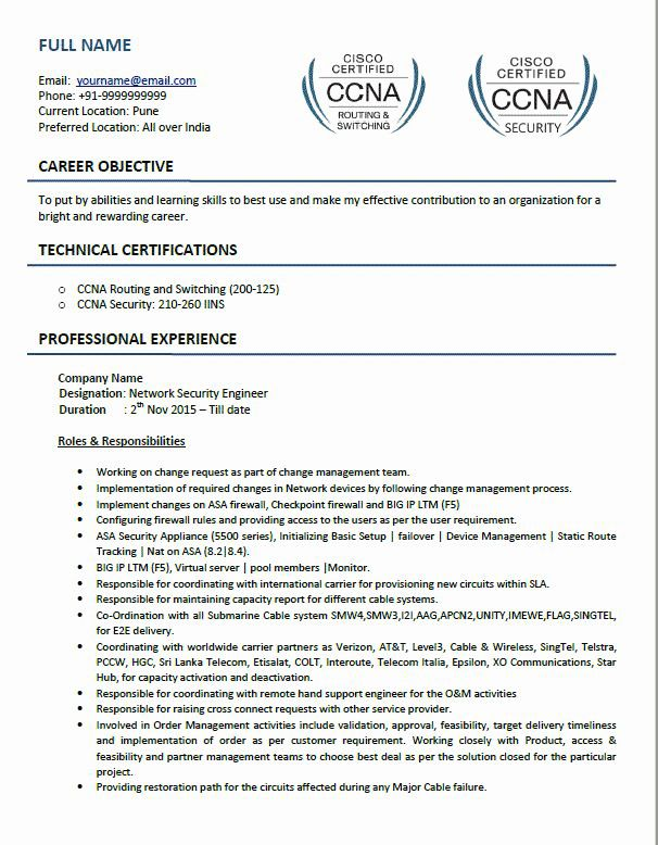 Network Engineer Resume Example Awesome Top 5 Network Security Engineer Resume Samples In Word Pdf Format Resume Examples Network Engineer Resume