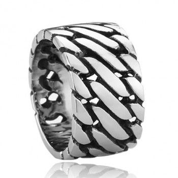 Titanium Kniting Personalized Ring For Men $148.90