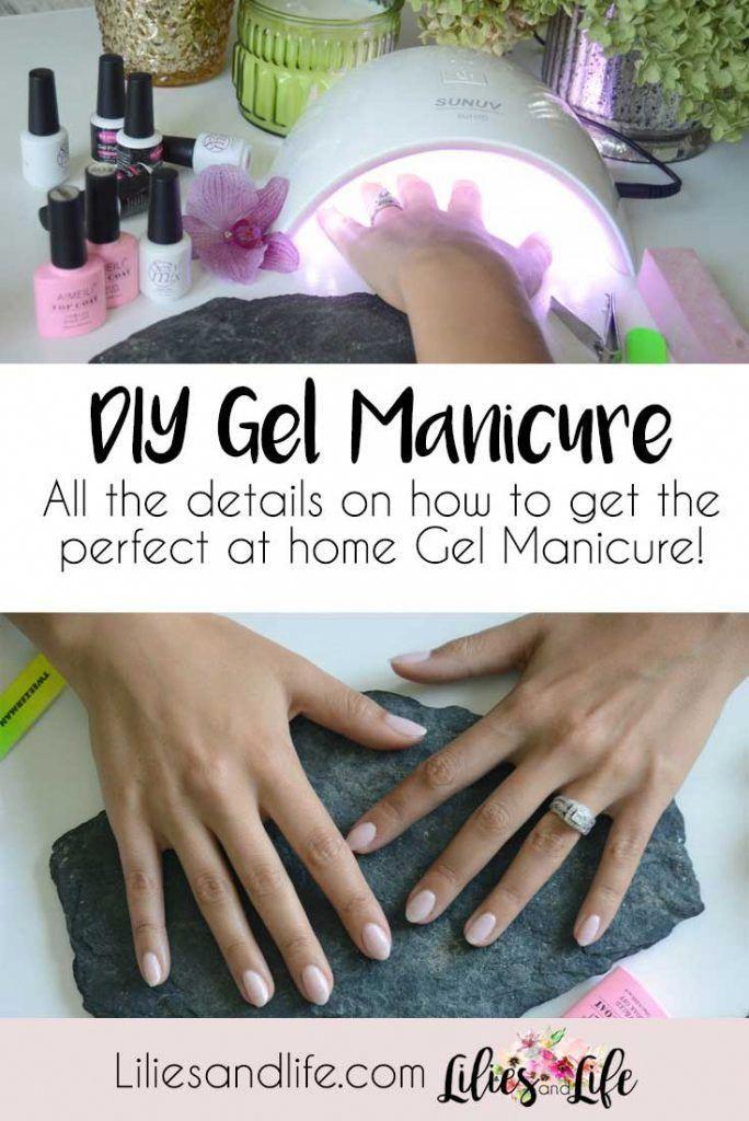 Diy Gel Manicure At Home Supplies Nail Polish And Lamp Details Click
