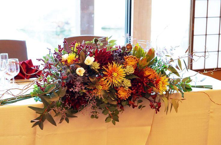 #tokugawaen#novarese#vressetrose#wedding #japanese #main table #table #flower #maintable#bridal#徳川園# ブレスエットロゼ #ウエディング# 和風 #和装 # メインテーブル#テーブル # 花#テーブルコーディネート#ブライダル#結婚式#ナチュラル#ブレスエットロゼ名古屋#マム