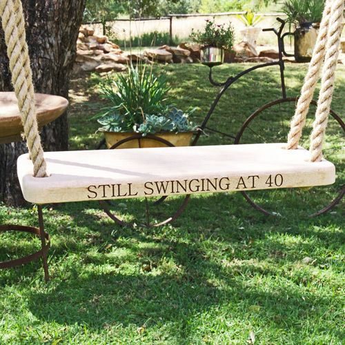 Saligna Wood Personalised Swing