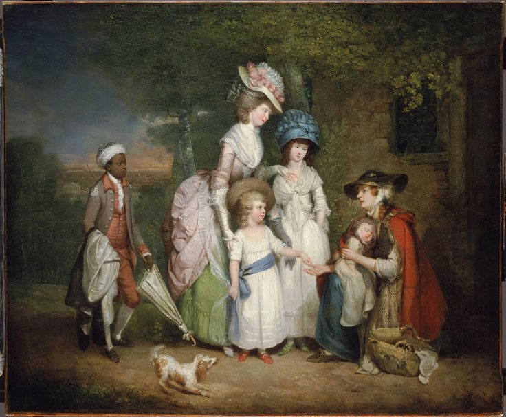 Philadelphia Museum of Art - Collections Object : A Lady and Her Children Relieving a Cottager