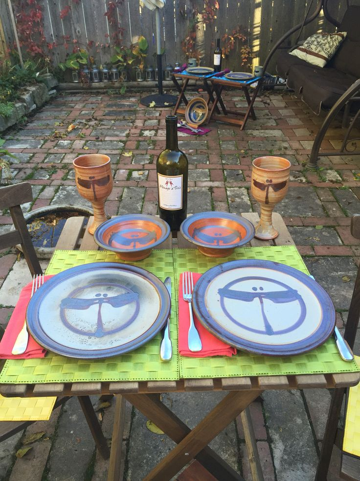http://richardfisherpottery.com/ Table Settings Ready for Guests