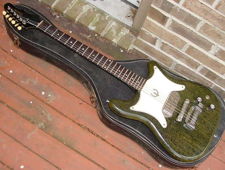 1965 Epiphone Coronet (generation3 body style) in Green Silver Fox finish.