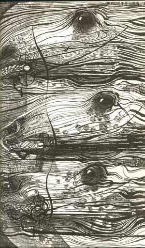 Charles Keeping illustration from Leon Garfield's 'The God Beneath the Sea'.