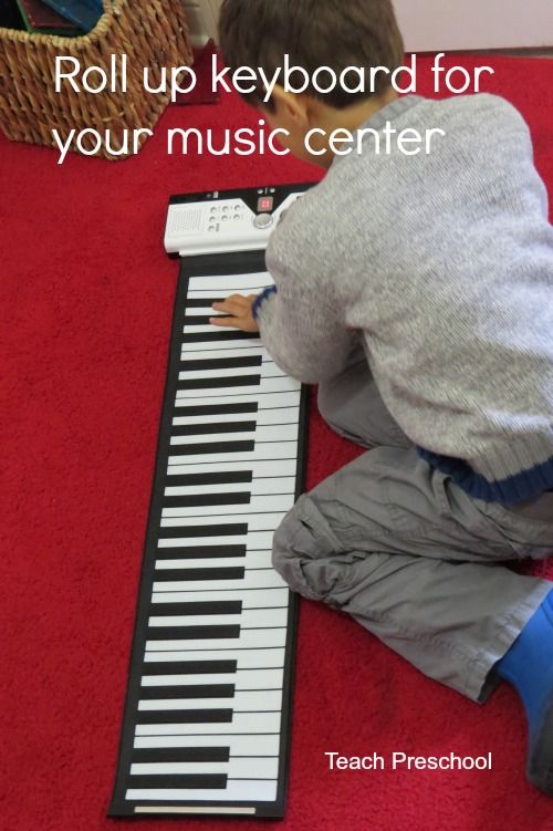 Roll up piano keyboard for the music center