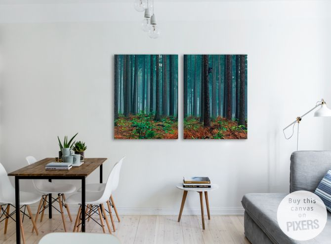 Fairytale forest print on canvas • Inspirations • PIXERSIZE.com