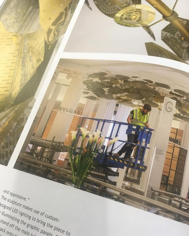 Catch my mug in the latest issue of @darc_mag chatting about @haberdasheryltd's Origin of Wonder sculpture for Selfridges Oxford St. #originofwonder