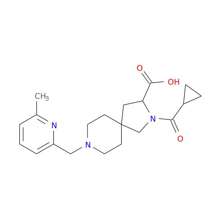 3-(cyclopropanecarbonyl)-8-[(6-methylpyridin-2-yl)methyl]-3,8-diazaspiro[4.5]decane-2-carboxylic acid is now  available at ACC Corporation