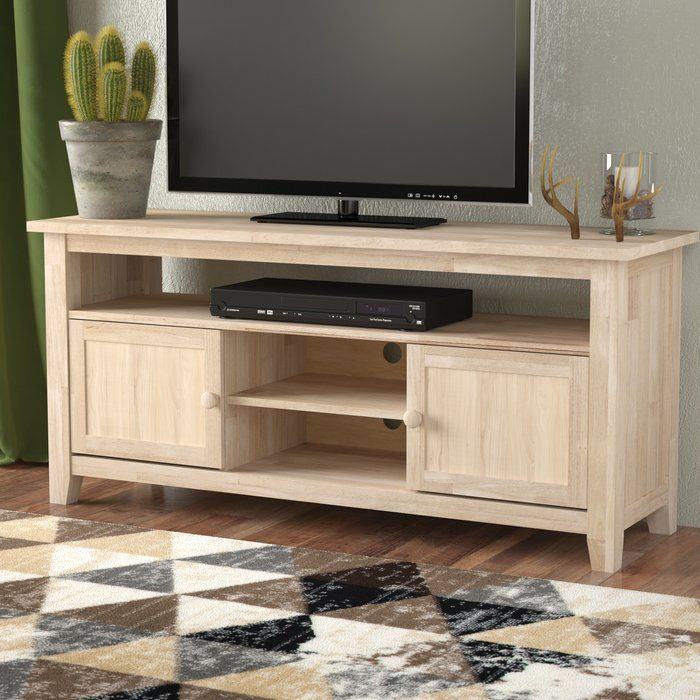 Ramapo Solid Wood Tv Stand For Tvs Up To 65 Con Imagenes