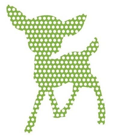 Groen hertje muursticker