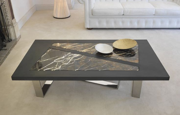 Image of: low marble coffee table