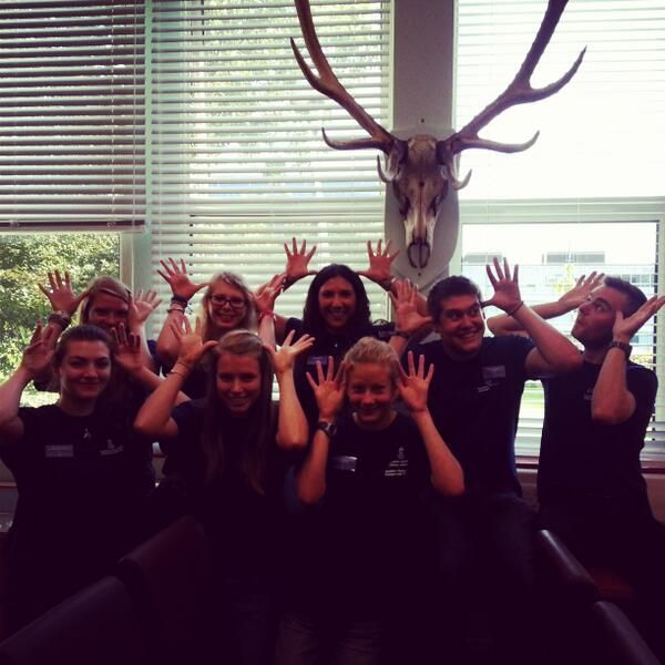 Bioscience student ambassadors making the most of the zoology museum... (via @Storytime_Kay)