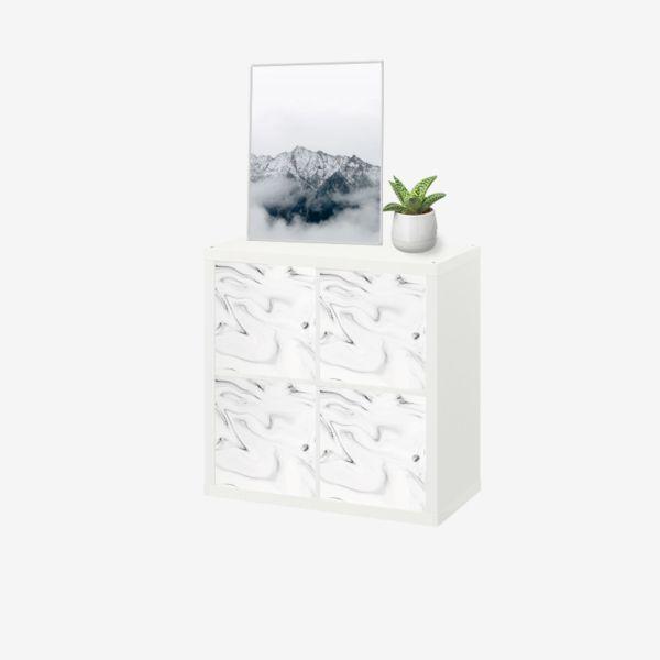 Epingle Par Kusthome Sur Stickers Ikea Kallax Meuble Kallax Marbre Blanc Kallax Ikea