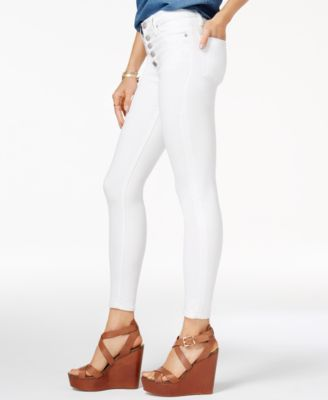 Hudson Jeans Ciara Cropped Skinny Jeans - White 32 | Cropped ...