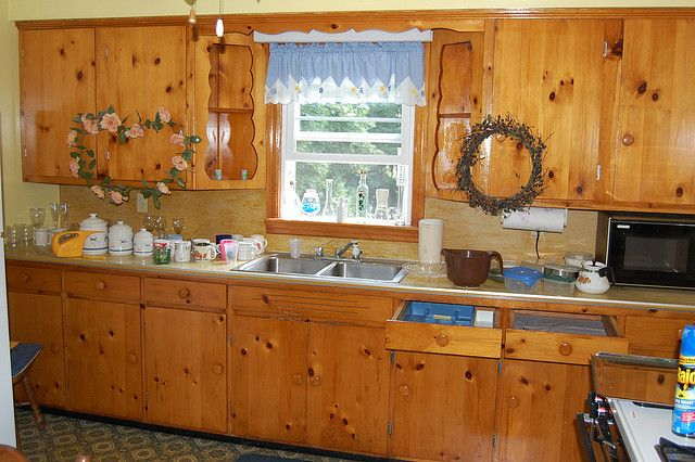 1000 Images About Knotty Pine Cabinets Kitchen On