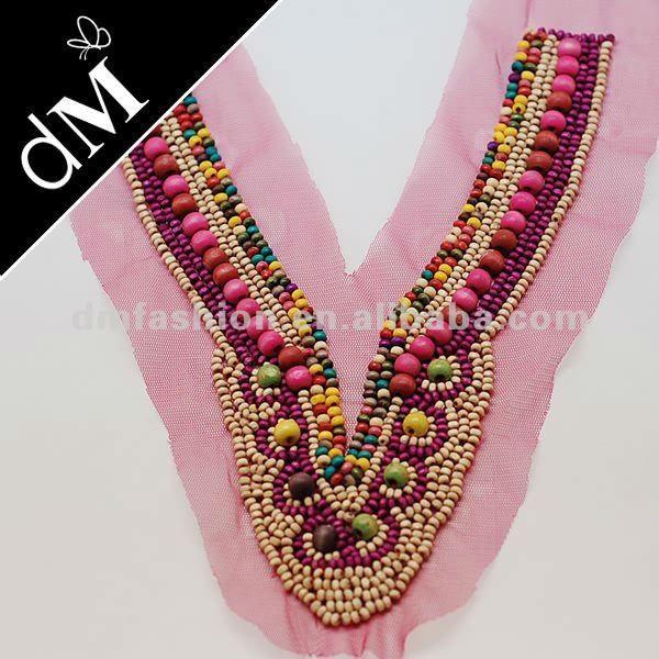 multi color de madera collar de cuentas adornos para prendas de vestir snl0019-Otros accesorios de vestir-Identificación del producto:613536...
