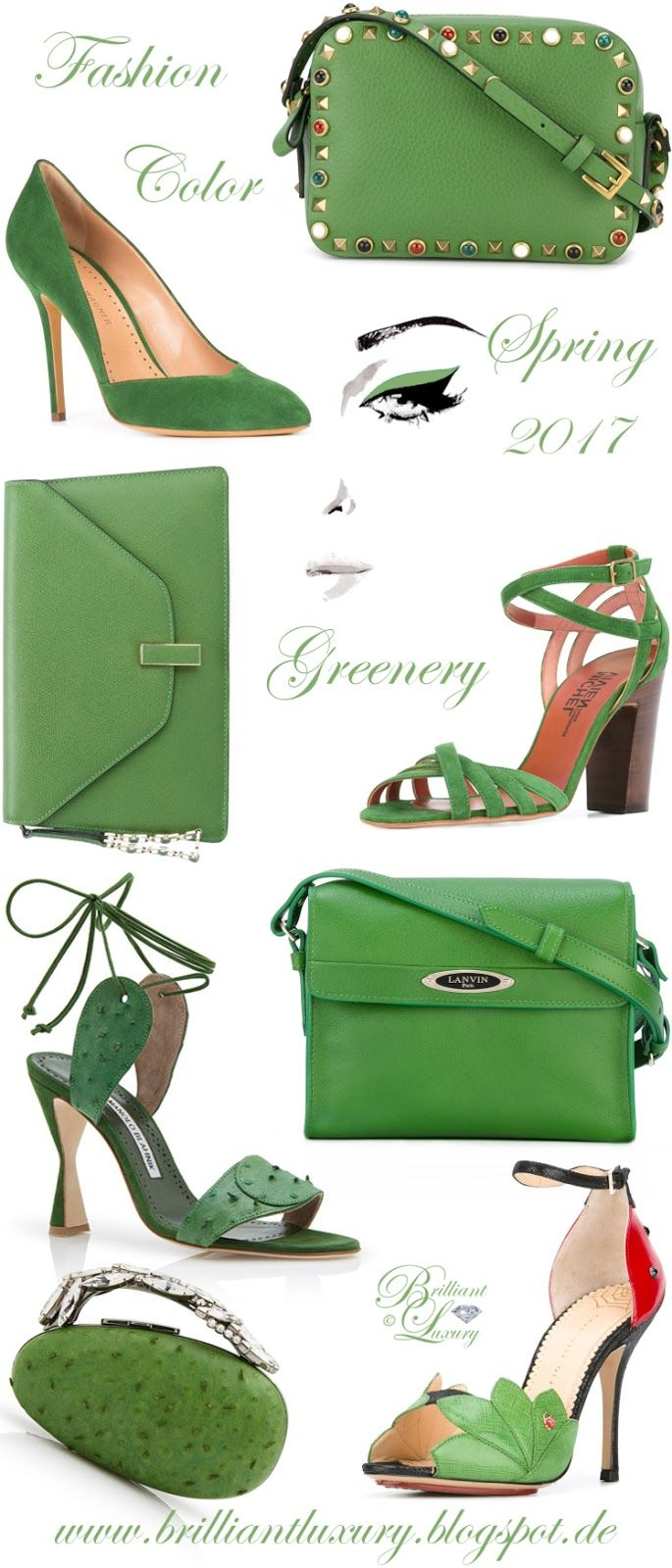 Brilliant Luxury by Emmy DE ♦ Fashion Color Spring 2017 ~ greenery