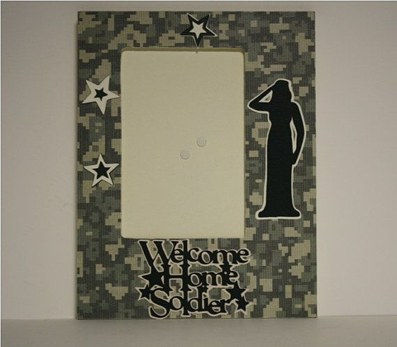 Welcome Home Soldier table top military by ITSHOWYOUFRAMEIT, $15.00